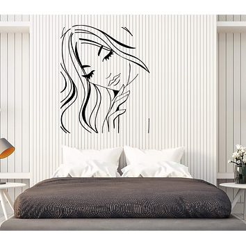 Wall Stickers Vinyl Decal Hot Sexy Girl Teen With Nice Hair And Eyes Unique Gift (z2021)
