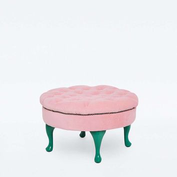 Tufted Pink Stool - Urban Outfitters