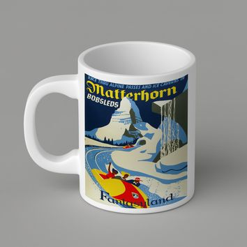 Gift Mugs | Disney Matterhorn Vintage Ceramic Coffee Mugs