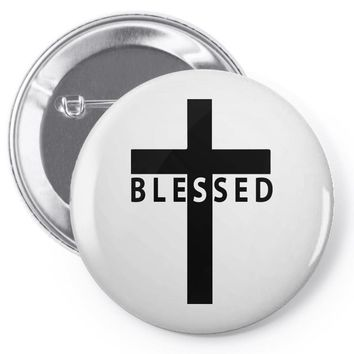 blessed cross Pin-back button