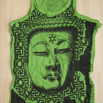 Woman's size M Cute Yoga Outfit Tank Top Ganesha by letshugitout