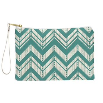 Heather Dutton Weathered Chevron Pouch
