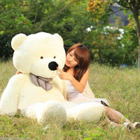 "Stuffed Giant 100cm Plush Teddy Bear Huge Soft Cotton Toy White 40"" = 1697513476"