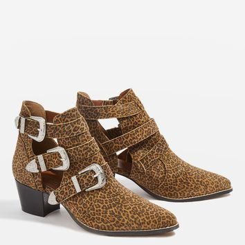MARMALADE Leopard Print Ankle Boots | Topshop
