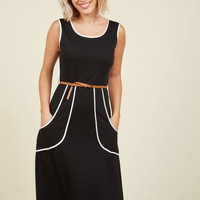 Outline of Work Midi Dress in Black