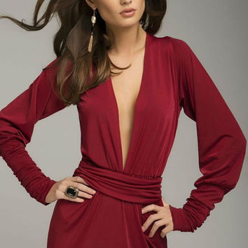 Sexy Burgundy Dress, Floor Length Evening Dress Formal.