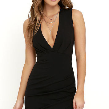 Cocktail Hour Black Wrap Dress