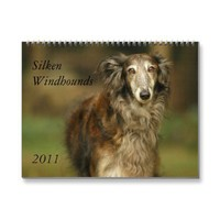 2011 Silken Windhounds 2011 (adults) Wall Calendar from Zazzle.com