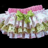 New Sweet and Sassy Bubbles Ruffled Diaper Cover by KuttinUp