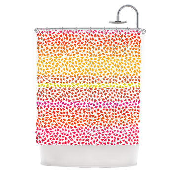 "Sreetama Ray ""Sunset Arrows"" Red Abstract Shower Curtain"