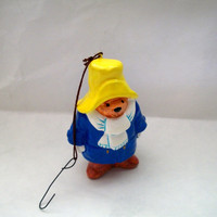 Vintage Paddington Bear Ornament Ceramic 1978