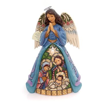 Jim Shore Praise Thee With The Joy of Angels Christmas Figurine