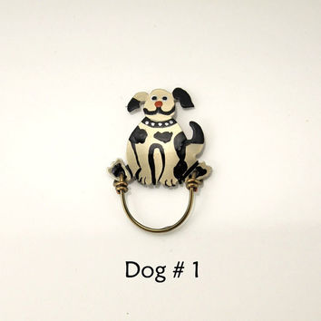 Hand painted Puppy Dog Magnetic Eyeglass Holders