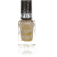 River Island Womens Majesty gold Barry M glitter nail polish