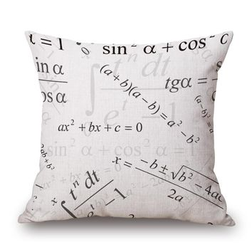 Function Of Mathematical Science Kids Child Enlightenment Massager Pillow Decorative Vintage Pillows  Cover Home Decor Gift