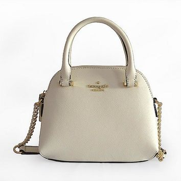 Kate Spade Shell Women Shopping Leather Metal Chain Crossbody Satchel H-YJBD-2H-1