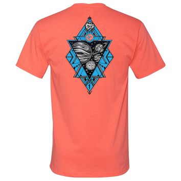 Planets Southern Charm Collection on a Coral T Shirt