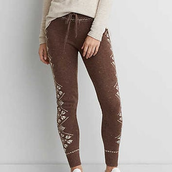 AEO Ahh-mazingly Soft Sweater Legging, Holiday Heather Brown