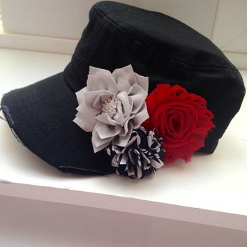 Red & Black Womens Hat