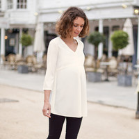 Cream Maternity Blouse