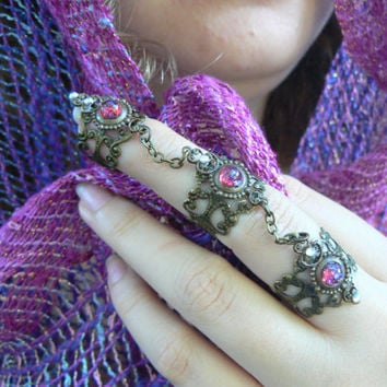 dragons breath ring armor ring statement ring claw ring opal steampunk ring knuckle ring goth victorian goddess pagan witch boho gypsy style