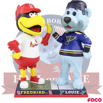 Fredbird and Louie St. Louis Cardinals and Blues High Five Bobblehead (Presale)