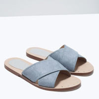 Crossover leather sandals