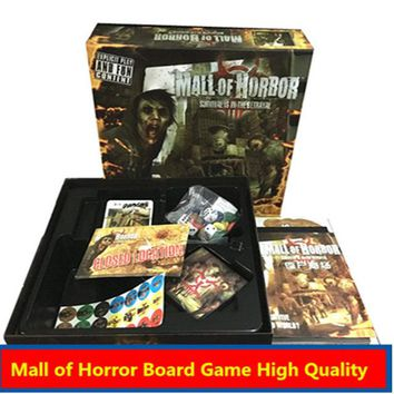 Family Friends party Board game Mall of Horror  High Quality 3-6 Players Zombies Survival Model Game party family indoor games AT_41_3