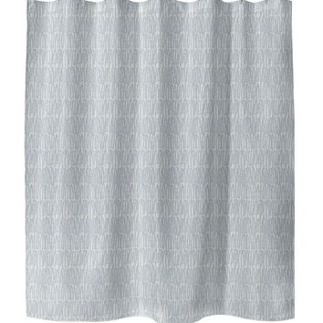 CLUSTER BLUE Shower Curtain By Tiffany Wong