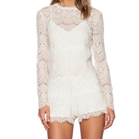 SAYLOR Savannah Romper in Ivory