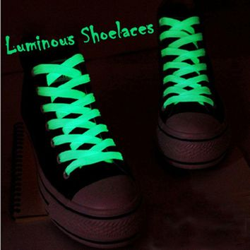 32'' Luminous Glow In Dark Shoelace Athletic Sport Boots Shoe Laces Strings