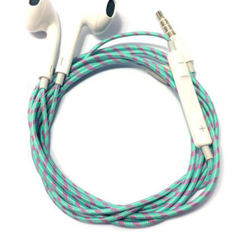Charge Cords - Wintermint Headphones - Green