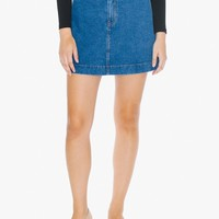 Easy Denim A-Line Skirt | American Apparel