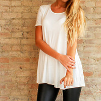 Essential Tee Tunic - Ivory