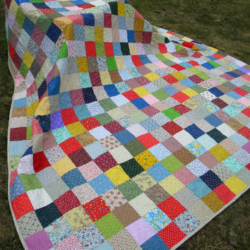 Patchwork Quilt--King Size--Classic Americana--made to order wedding gift