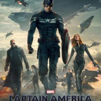 Captain America Winter Soldier poster Metal Sign Wall Art 8in x 12in