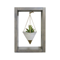 Air Planter, Wall Planter, Mini Planter, Succulent Planter, Concrete Planter, White Planter, Modern Planter, Air Plant Holder, Shadow Box