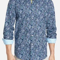 Men's Bugatchi Shaped Fit Paisley Sport Shirt
