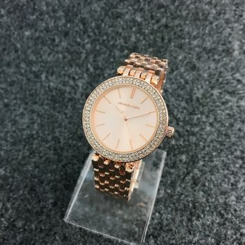 New Fashion Crystal Michael Kors Quartz Watch Wrist Watch- Rose Gold