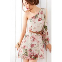 [FREE SHIPPING] Apricot Chiffon Dress