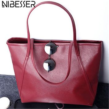 NIBESSER Fashion Women Shoulder Bags Shopper Bag Large Capacity Casual Tote Fashion Handbags for Women 2017 Lady bolsas feminina