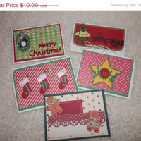 SALE Set of 5 Christmas Gift Card or Money Holders