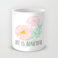 Ceramic Mug, Coffee Mug, Unique Mugs, Coffee Cup - Kitchen Decor, Floral Design, Pretty Mugs, Gifts for Her, Home Decor, Foodie Gifts