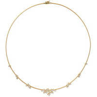 Paul Morelli 18k Yellow Gold Diamond Confetti Single Wire Necklace