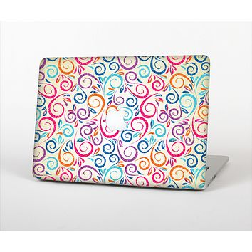The Bright Colored Vector Spiral Pattern Skin Set for the Apple MacBook Pro 15""