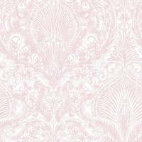 Graham & Brown Pink and White Burlesque Removable Wallpaper-32-943 - The Home Depot