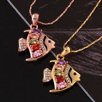Vintage Stretch Tattoo Choker Necklace N764 Nickle Antiallergic Gold Plated Necklace pendants