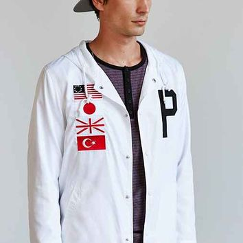 Profound Aesthetic Four Flag Coaches Jacket- White