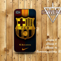 NIke Barcelona Logo  Handmade Case for Iphone 4/4s,Iphone5 Case,Samsung Galaxy s2,s3
