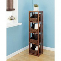 OIA Cocoa Four Shelf Storage Rack in Cocoa - 24614W - Linen Towers & Cabinets - Bed & Bath